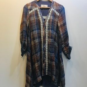 Anthropologie Holding Horses Tunic Dress Small